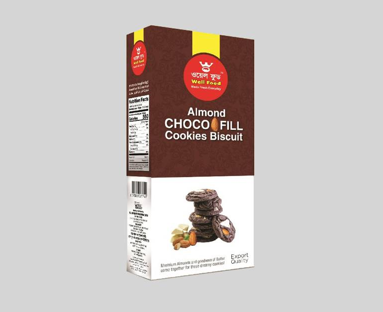 Well Almond Choco Fill Cookies